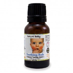 BALM! Baby * Teething RUB! * Natural Teething Relief * Safe | Vegan | Cruelty Free - 1/2oz Glass Bottle