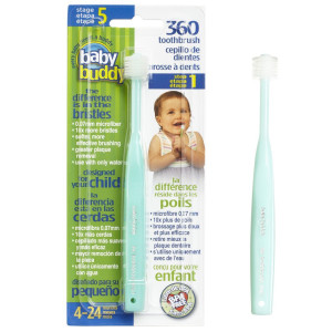BaBuddy Baby Buddy 360 Toothbrush, Green (Pack of 3)