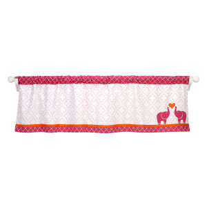 Happy Chic BaJonathan Adler Happy Chic Baby Jonathan Adler Party Elephant Valance, Pink/Orange/White