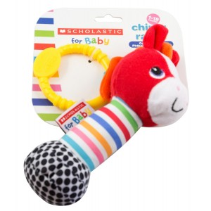 Scholastic Baby Rattle, Horse, 1-Pack