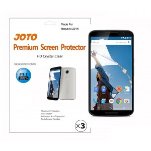 Nexus 6 Screen Protector - JOTO Screen Protector Film, Anti Fingerprint, Anti Glare (Matte Finish), for Google Nexus 6, Motorola Nexus 6 (2014 release), with Lifetime Replacement Warranty (3 Pack)