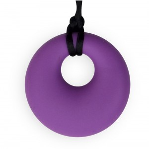 Stimtastic Chewable Silicone Round Pendant Nontoxic BPA and Phthalate Free, Lilac