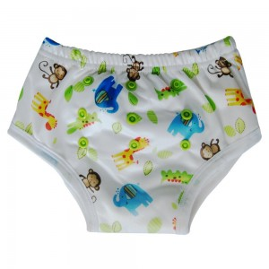 Ecoable Potty Training Underwear Pants for Toddler / Bamboo Inner, Safari