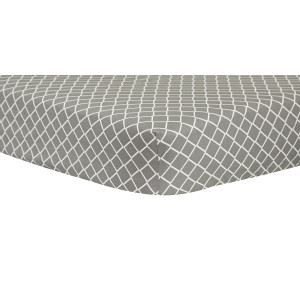 Trend Lab Gray Diamond Crib Sheet