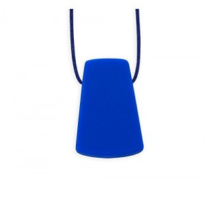 Stimtastic Chewable Silicone Trapezoid Necklace Nontoxic BPA and Phthalate Free, Blue