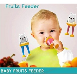 Mom and mii Tobi 3 Stages Silicone and Mesh Baby Fresh Fruit and Food Feeder (Mint/Blue)