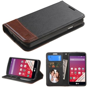 MyBat Carrying Case for LG LS660 (TRIBUTE) - Retail Packaging - Black/Brown