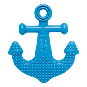 Mayapple Baby - Suri the Octopus and Friends Teether - 1 Silicone Teething Toy - Dark Blue Anchor Single