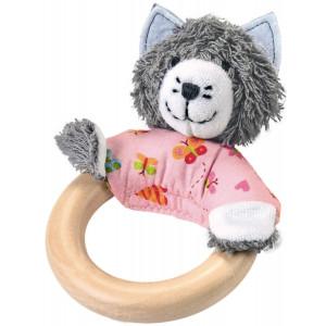 Käthe Kruse Kathe Kruse In The Garden Wooden Grabbing Toy, Cat