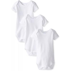 Spasilk Unisex Baby 3-Pack Short Sleeve Lap Shoulder Bodysuit
