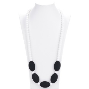 Consider It Maid Baby/Toddler Silicone Teething Necklace - Black - Mix It Up Collection