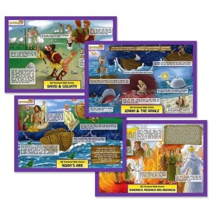 Dicksons Gifts Old Testament Bible Stories Children's Double Sided Placemats Set of 4