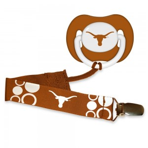 BaFanatic Baby Fanatic Pacifier with Clip - Texas, University of