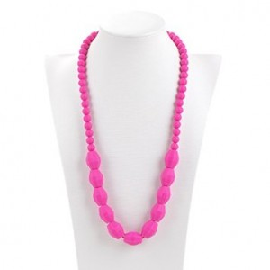 Consider It Maid Baby/Toddler Silicone Teething Necklace - The Up and Up Collection (Violet Red)