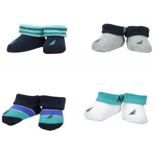 Nautica Baby-Boys Newborn 4 Pack Booties