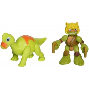 Teenage Mutant Ninja Turtles Pre-Cool Half Shell Heroes Dino Michelangelo and Brachiosaurus Figures