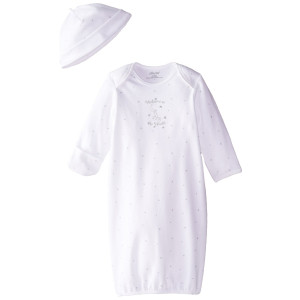 Little Me Unisex-Baby Newborn Welcome World Gown and Hat