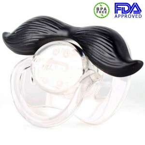 BMP Baby Mustache Pacifier? ? Safe for Babies 6-12 Months ? Certified Safe - 598