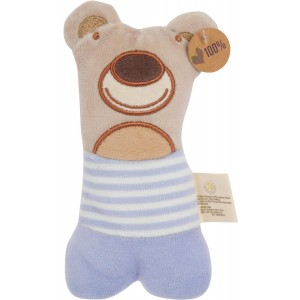 Olives & Pickles Olives and Pickles Organic Teething Rattle, Pablo The Bear, Small
