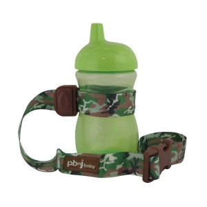 SippyPal by PBnJ baby - Secures Sippy Cups, Baby Bottles, Baby Toys and Accessories (Green Camo)