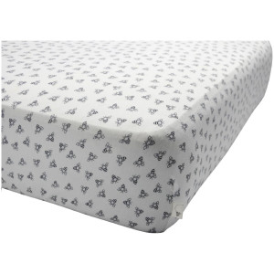 Burt's Bees Baby Honeybee Print Fitted Crib Sheet - Blueberry