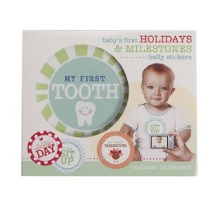 Stepping Stones Baby's First Milestones Stickers My First Tooth