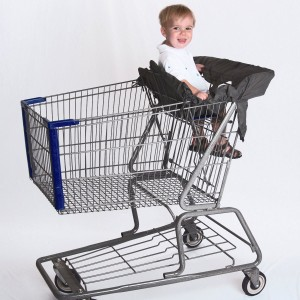 Cossettie LLC Compact Shopping Cart and High Chair Cover by Cossettie - 3 color options - lightweight ripstop ny