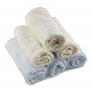 Soft Ambient Natural Organic Luxury Bamboo Baby Washcloths For Sensitive Toddler Skin / Travel Wipes / All Purpose Towel