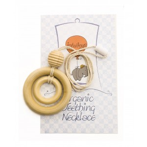 Intuitoys All Natural Wood Baby Teething Necklace