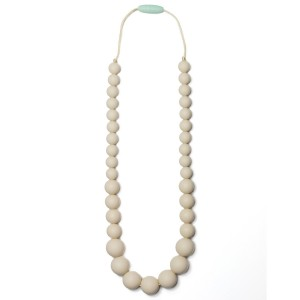 Mama & Little Mama and Little Anna Silicone Baby Teething Necklace for Moms - Nursing Necklace in Cream - Teethi