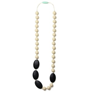 Mama & Little Mama and Little Rachel Silicone Baby Teething Necklace for Moms - Nursing Necklace in Black - Teet