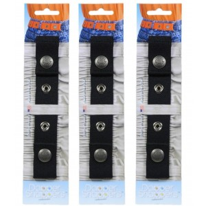 Dapper Snappers Dapper Snapper Toddler Belt Black, 3 Count