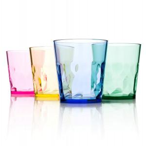 SCANDINOVIA 8 oz Premium Drinking Glasses - Set of 4 - Unbreakable Tritan Plastic - BPA Free - 100% Made in Ja