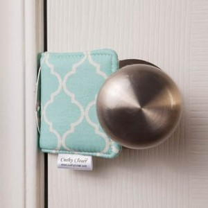 The Original Cushy Closer Door Cushion (Charlotte Blue)