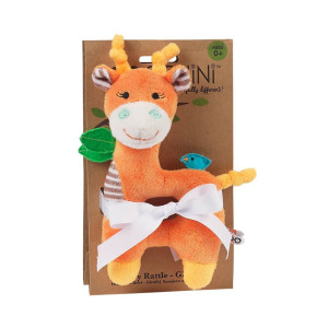 Zoocchini Baby Buddy Rattle - Giraffe/Orange