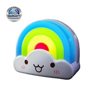 Beeuto Baby Night light Led Rainbow Toddler Nightlight Provide Soft Glow for Nursery with VoiceandLight Sensor