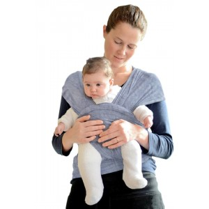 Baby Sling Carrier, Natural Cotton Nursing Baby Wrap Suitable for Newborns to 35 lbs Breastfeeding Sling Baby Holder Soft Safe and Comfortable Excellent Baby Shower Gift Gray XL