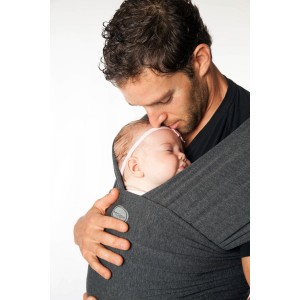 MoWrap Moby Wrap Bamboo Baby Carrier, Charcoal