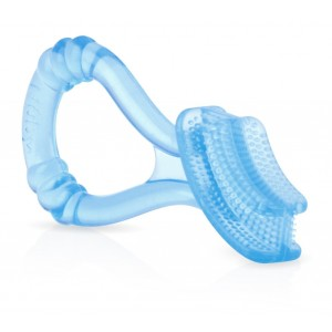 Nuby Silicone Toothbrush Massager, Blue