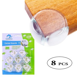 ItsyKidsyCare Clear Cushion Corner Guards (8 Piece) with trusted 3M adhesives - Clear Premium Quality protector