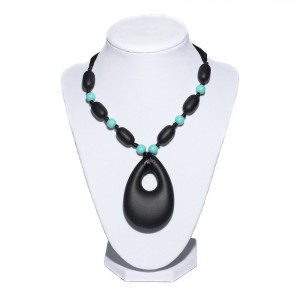Snuggle Bunny Beads™ Silicone Teething Necklace Fashionable for Mom Functional for Baby BPA Free FDA Approved Won't Sna