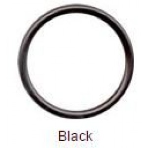 Lil' Eco Best Baby Original Sling Rings, Aluminum and Nylon Rings for Making Ring Slings (Large, Black)
