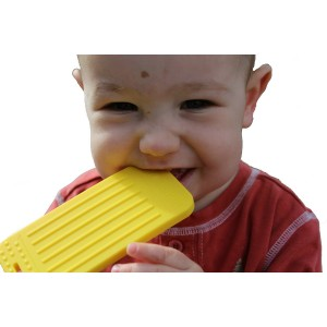 """Tootsie Mama """"Chew This Instead"""" iPhone Shaped Baby Teething Toy, Yellow - Safe for Infants and Toddlers, Sof"""