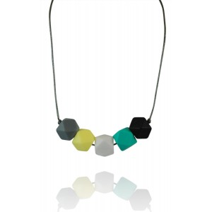 "Wear Tough ""Westley"" New Chic Teething Necklace For Mom and Baby -Modern and Elegant, Safe To Wear, High-Gr"