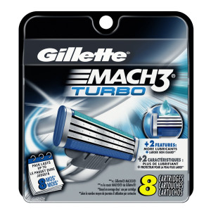 Gillette Mach3 Turbo Cartridges, 8 Count