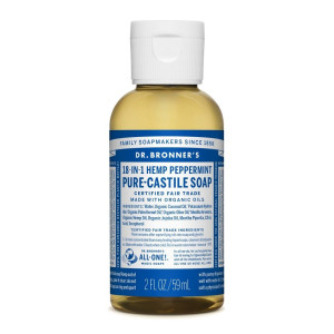 Dr. Bronner's Magic Soaps Fair Trade and Organic Castile Liquid Soap, Peppermint, 2 Fluid Ounce