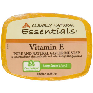 Clearly Natural Vitamin E Glycerine Bar Soap, 4 Ounce -- 6 per case.