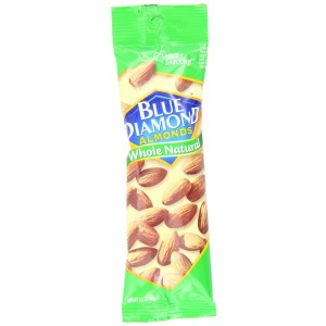 Blue Diamond Almonds, Whole Natural, 1.5-Ounce Packages (Pack of 24)