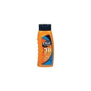 Dial for Men 3-D Odor Defense Body Wash 16 fl oz (473 ml) (2 PACK)