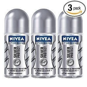 Nivea for Men Silver Protect Deodorant Roll-on 50 ml (3Pcs Per Pack) - Best Selling